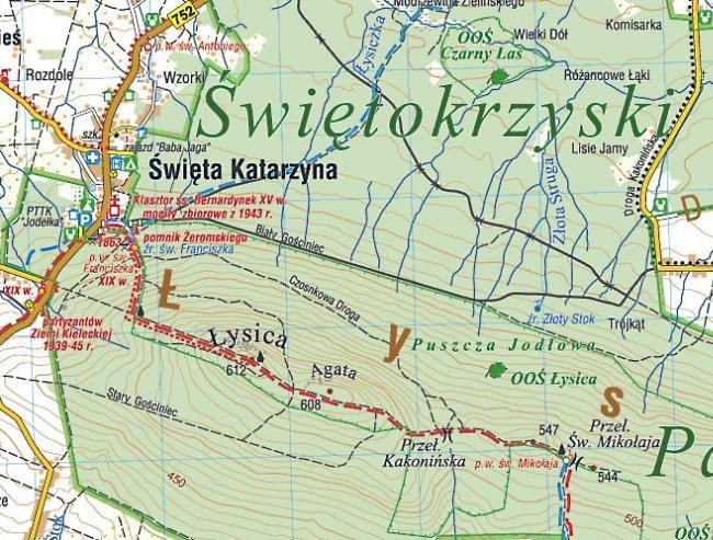 G 243 Ry Świętokrzyskie Mapa Turystyczna Compass Podhalanka Pl