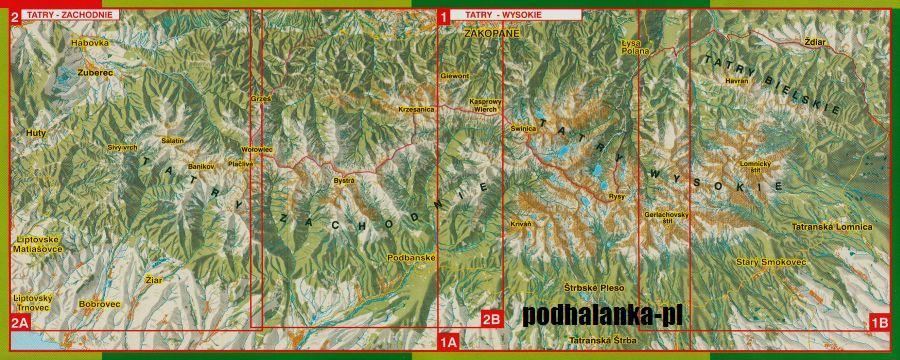 Tatry Polskie I Slowackie 2w1 Mapa Turystyczna Laminowana