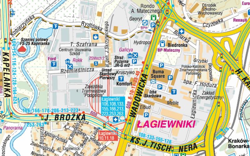 Krakow Plan Miasta Mapa Compass Podhalanka Pl