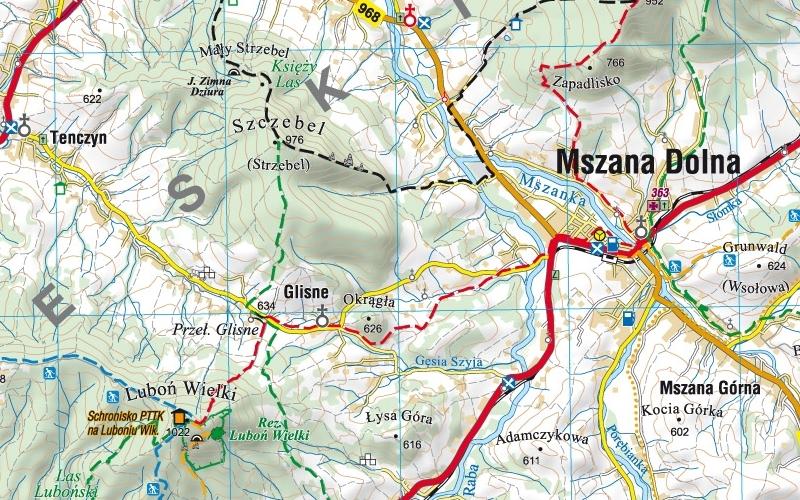 Malopolska Poludniowa Samochodowa Siatka Gps Mapa Podhalanka Pl