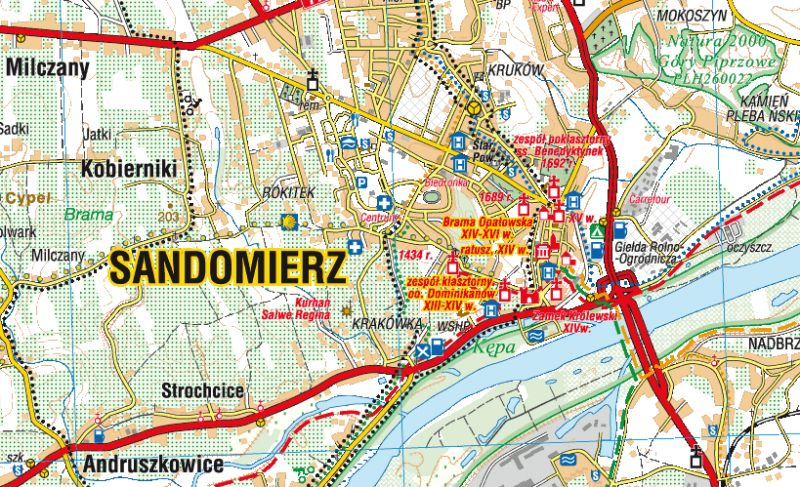 City Maps Map Sandomierz