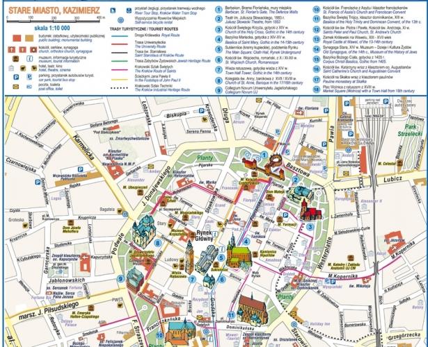 Wieliczka mapa turystyczna