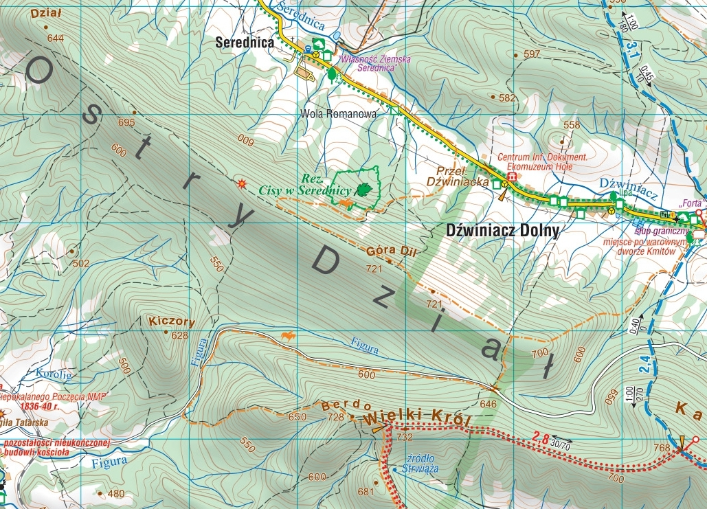 Okolice Sanoka Sanok Mapa Turystyczna Compass Podhalanka Pl